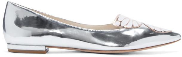 Sophia Webster butterfly flats silver shoes