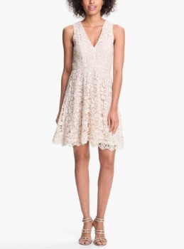 French Connection 'Loving Crochet' Fit & Flare Dress - Pradux