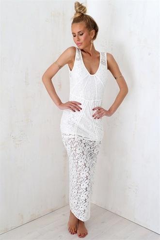 dress white white dress lace dress lace white lace maxi dress