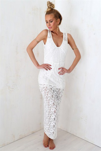 dress white white dress lace dress lace white lace maxi dress