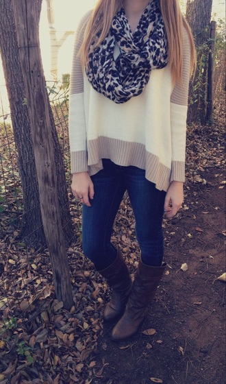 sweater style cute sweater top long sleeves scarf
