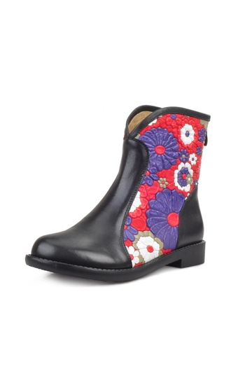 Ethnic Embossed Boot [FABI1265]- US$164.99 - PersunMall.com