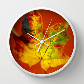 home accessory clock maple leaf heidiannemorris
