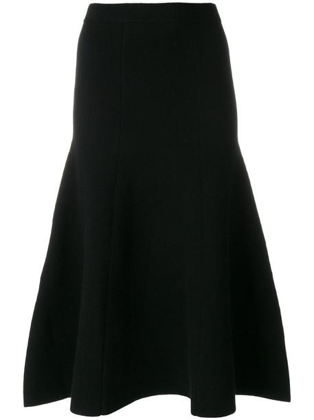 Joseph skirt knitted skirt women spandex black wool