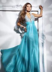 dress,for formal evening,elastic woven satin,floor length,blue color