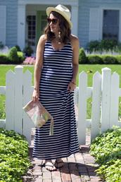 sequins & stripes,dress,bag,jewels,hat,sunglasses