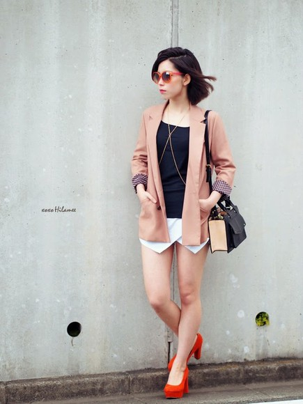 sunglasses jacket shorts shoes bag xoxo hilamee t-shirt