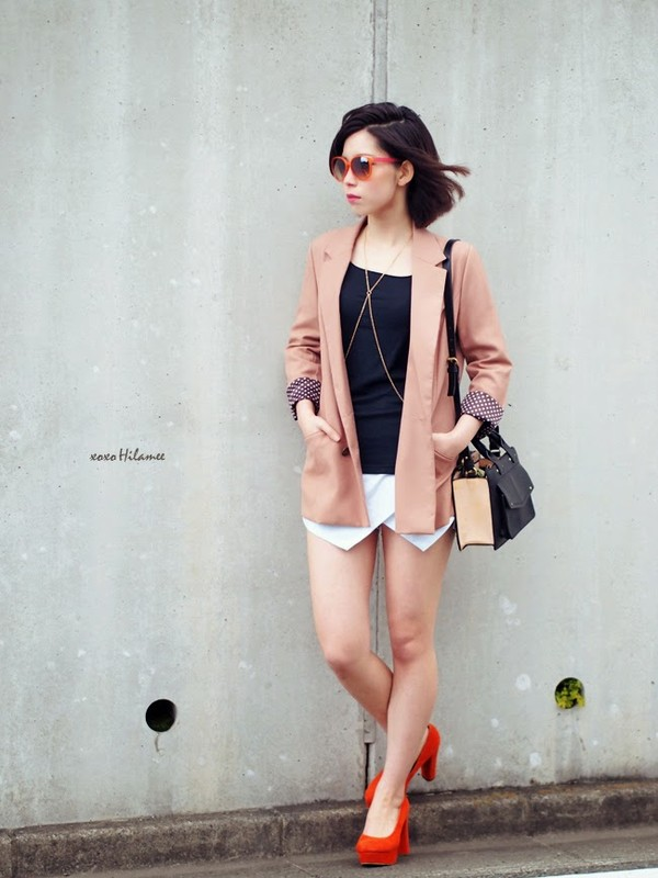 xoxo hilamee jacket t-shirt shorts shoes bag sunglasses