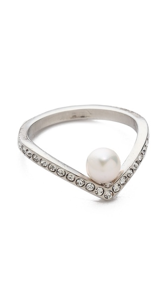 Vita Fede Ultra Mini V Crystal Ring | SHOPBOP