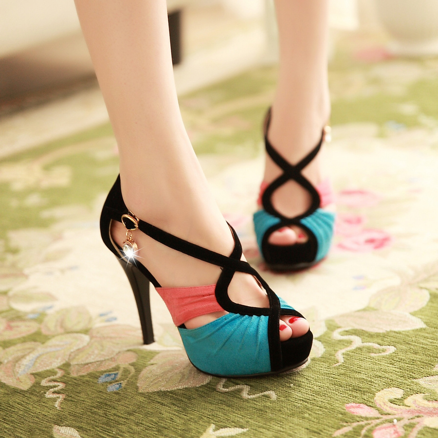 b886a405d97 Free Shipping Womens Fashion Open Toe Shoes Stiletto Strappy ...