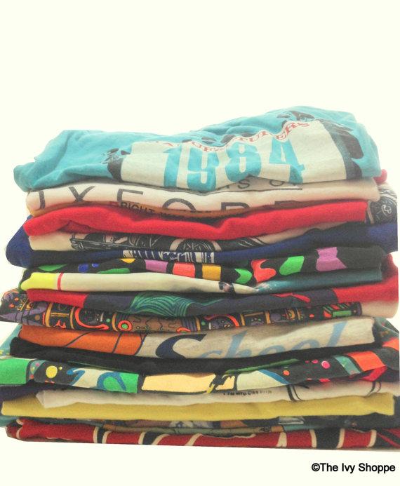 Soft vintage tshirt 1970s1990s  mystery shirts buy by theivyshoppe