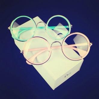 sunglasses cute glasses pink blue glasses glasses