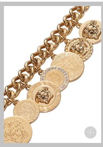 jewels versace charm bracelet gold medusa