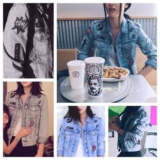 jacket denim cute jeans acacia brinley patch