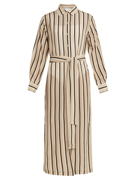 Asceno shirtdress silk cream dress