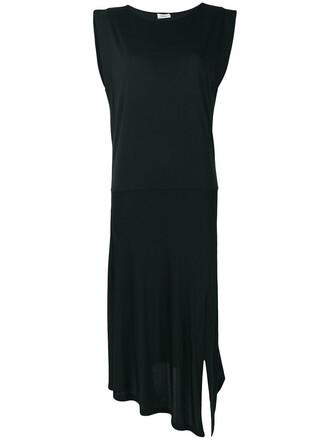 dress slit dress women slit black