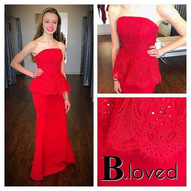 9b93edfed653 dress sherri hill peplum dress prom dress fit and flare dress strapless  dress