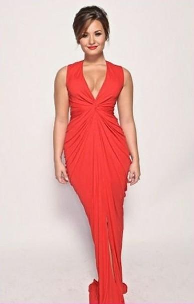 dress demi lovato red prom dress red dress prom dress