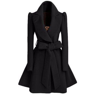 coat fashion bow long sleeves fall outfits trendy warm cute stylish girly clothes winter outfits style fashionista maroon/burgundy