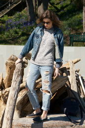 styling my life,blogger,jacket,shirt,jeans,sweater,bag,shoes,jewels,sunglasses