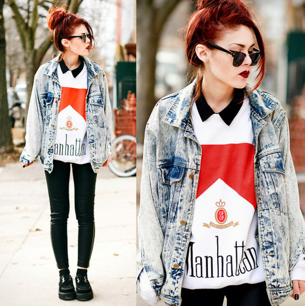sweater sweatshirt funny sweater denim jacket vintage coat shoes slim jacket