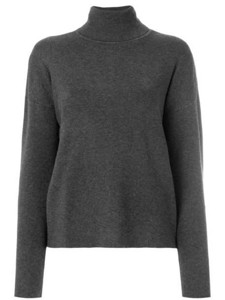 Michael Michael Kors - roll neck jumper - women - Nylon/Polyester/Spandex/Elastane/Cashmere - XS, Grey, Nylon/Polyester/Spandex/Elastane/Cashmere