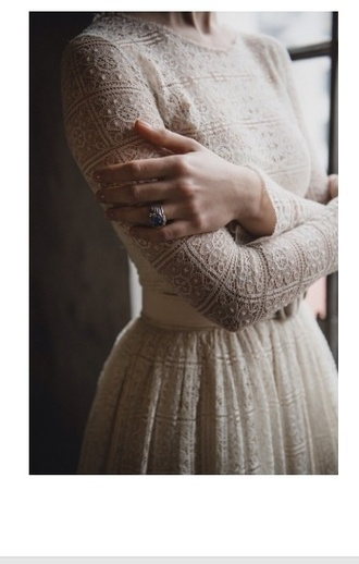 dress lovely pepa girly comfy outfits fall outfits winter sweater winter dress fall dress lace dress ring lace wedding dresses lace up winter outfits hipster wedding long sleeve dress winter wedding style fashion summer dress prom dress fall wear cozy sweater rings and tings formal dress formal lace sleeve spring dress
