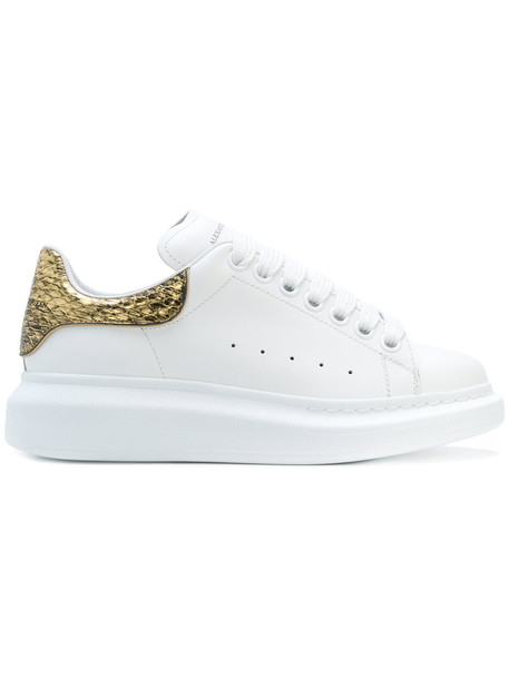 Alexander Mcqueen oversized women sneakers leather white shoes