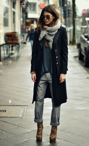 pants coat scarf