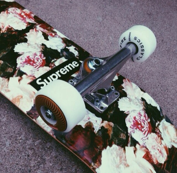 jewels skateboard supreme floral