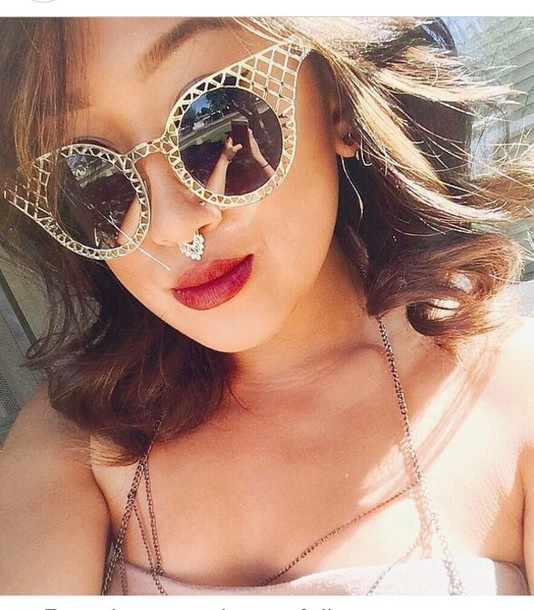 sunglasses style accessories gold