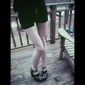 shoes soda platform shoes platform sandals sandals chunky chunky sole chunky heels peep toe black shoes zooshoo edgy cute