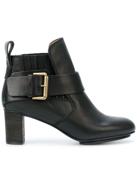 See by Chloe women ankle boots leather black shoes