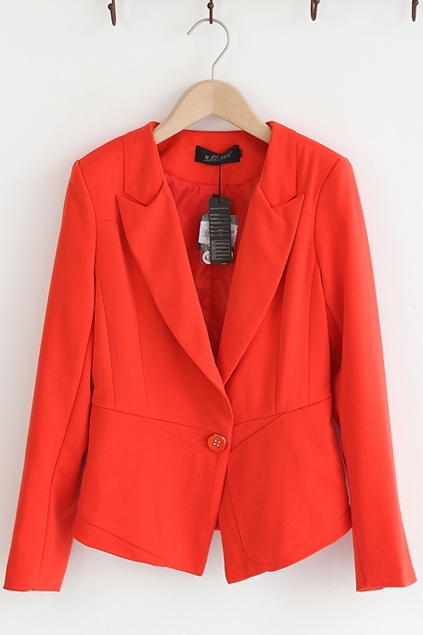 Slim Fit Office Lady Blazer - OASAP.com