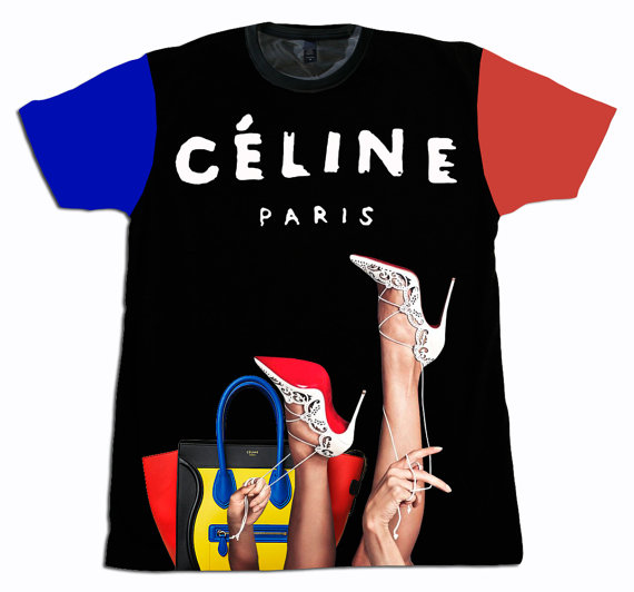 Celine luxury t shirt by theamericanflyshop on etsy