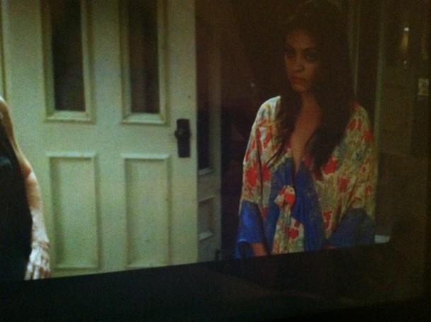 Mila Kunis kimono robe