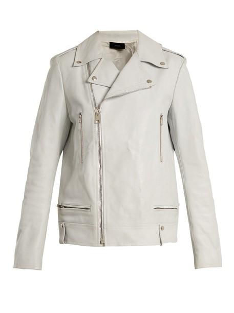 Joseph jacket leather jacket leather white