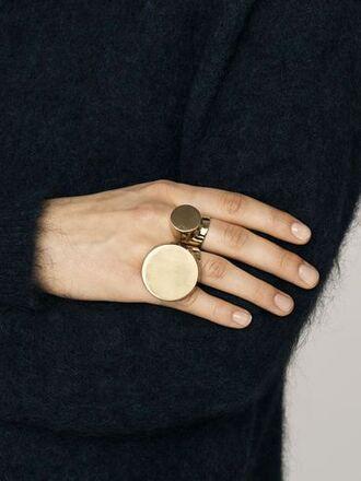 jewels bymalenebirger minimalist minimalist jewelry gold ring copper geometric statement ring