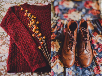 shoes vintage brogue shoes boots brown boots fall boots