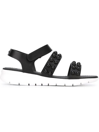 studded sandals flat sandals black shoes