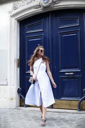 dress,tumblr,wrap dress,midi dress,blue dress,one shoulder,ballet flats,flats,shoes