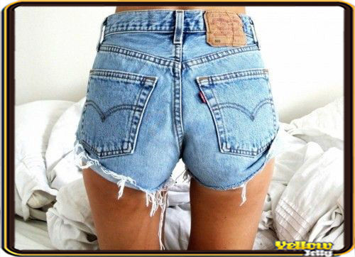 LEVIS VINTAGE WOMENS HIGH WAISTED STONE WASH DENIM SHORTS SIZE 8 10 12 14 16 | eBay