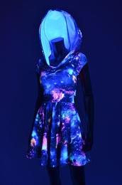 dress,galaxy dress