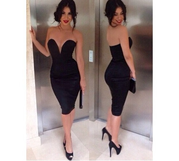 dress little black dress black bodycon ebony lace ebonylace-streetfashion