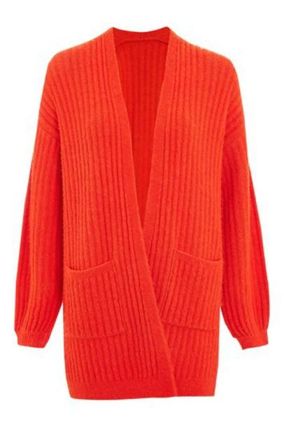 Topshop cardigan cardigan red sweater