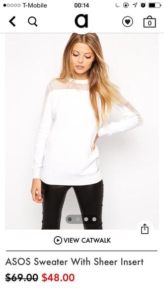 sweater white asos transparent