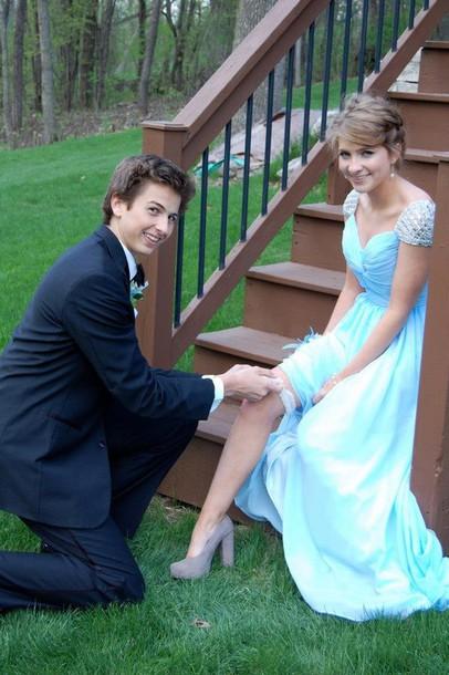 dress prom clothes prom dress blue blue prom dress cap sleeve prom dress beautiful baby blue prom dress