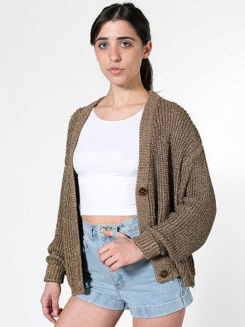 Metallic cropped cardigan
