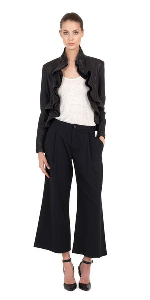 Ivette Ruffle Jacket | Jackets & Outerwear | MARISSA WEBB