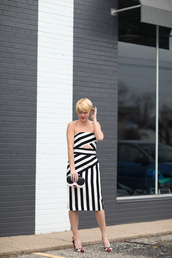 style archives - seersucker and saddles,blogger,dress,shoes,bag,jewels,striped dress,black and white dress,clutch,high heel pumps